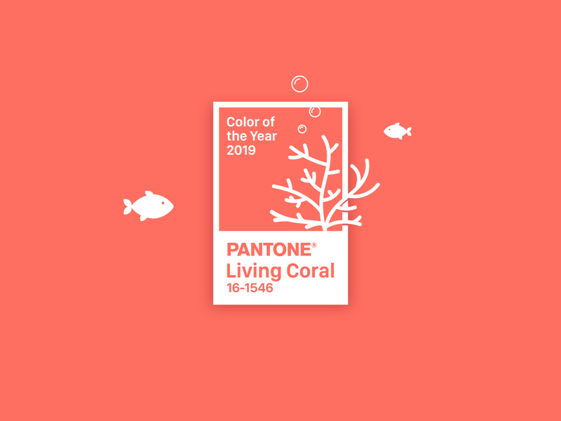 Pantone color of the Year 2019 ff6f61 fish illustration coral living coral color 2019 pantone