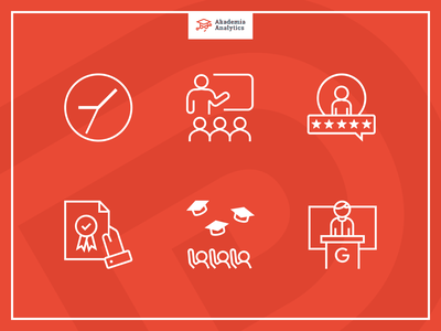 Icon set for training benefits section illustrator certificate trainer rating students people clock benefits training lined vector analytics icons icons set