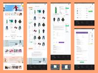 Kids clothing store Ux/Ui design