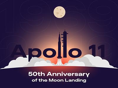 Apollo 11 🚀 landing earth space anniversary vector art apollo 11 rocket moon design vector illustration