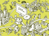 TV World Mural - source drawing