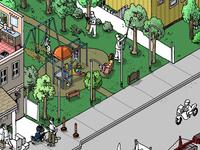 isometric street - house progress 2