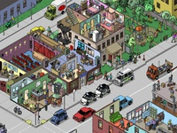 Boschville game illustrations - Street