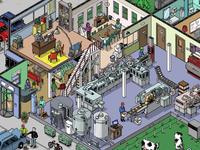 Boschville game illustrations - Factory