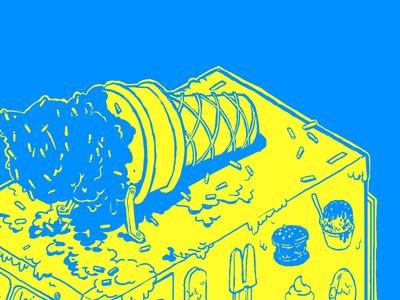 ice cream truck illustration 2