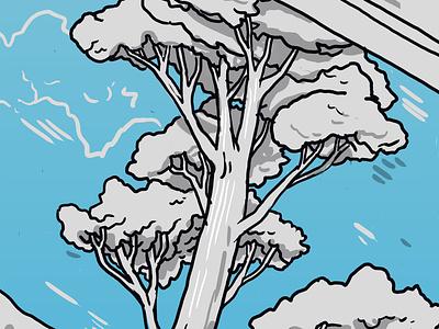 Tree nature tree art mural wacom color digital isometric drawing illustration