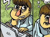 Cartoon comic guy