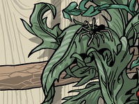 Leaves & spider 2