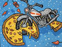 Pizza Bike Painting 2