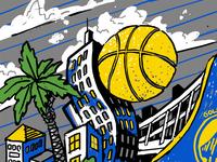 Oakland/Dubs Mural Illustration