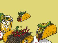 Tacos mural sketch 1