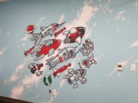 Redtail Rocket Mural