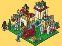 Lego Mural Sketch