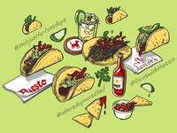 Taco Mural Sketch