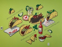 Redtail Taco Mural
