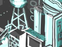 Dark City Mural Sketch