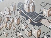 Telegraph #Bizerkeley mural