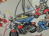 Motorcycles live mural - crop 1