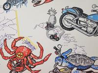 Motorcycles live mural - crop 2