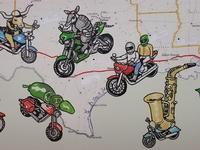 Motorcycles live mural - crop 3