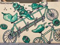 Veggie Bikes Murals - Peppers