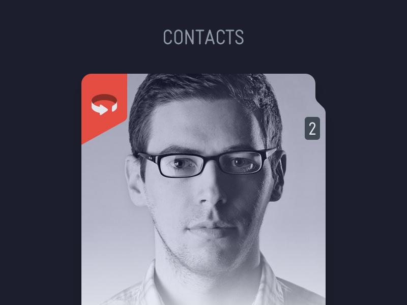 Card ios app iphone flat card