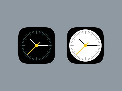 Clock clock ios 7 icon flat