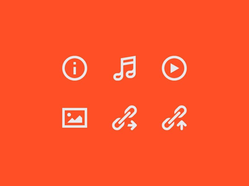 Blog Icons icon glyph outline solid info note play image chain arrow