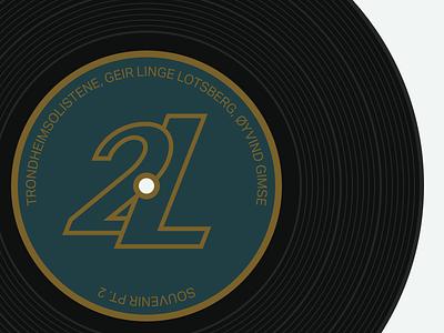 Music vinyl record illustration vector flat