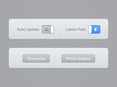 UI toggle slide button