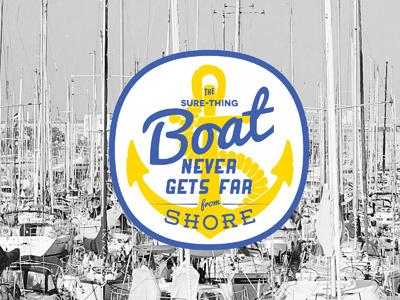 Boat anchor badge label rope boats harbor print