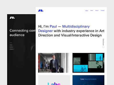 New Website web  design icons portfolio minimal website