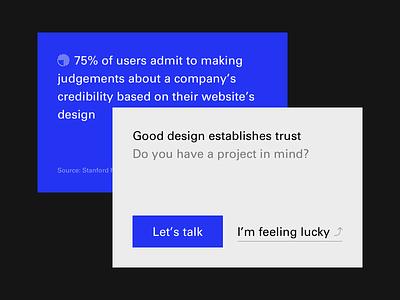 Call to Action cta website web design portfolio minimal icons