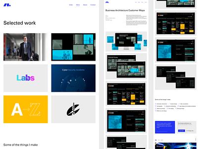 Selected Work flat web design portfolio minimal website