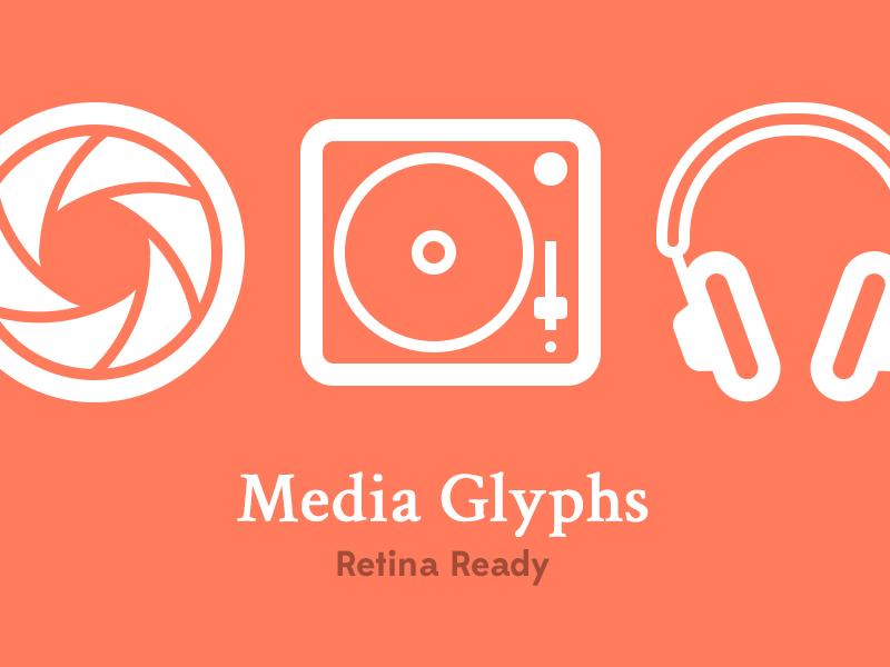 Media Glyphs glyphs icons audio video photo