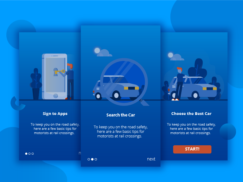 Rentocar Onboarding Illustration character material design website web ui rent onboarding illustration homepage car booking app