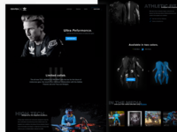 TLD x Adidas concept landingpage