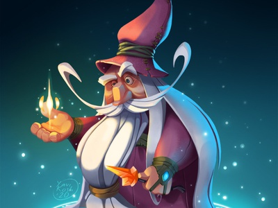 Mage mage game art illustration characters raster character design character