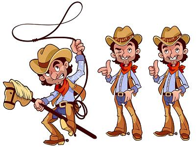 Cowboy vector character men cowboy