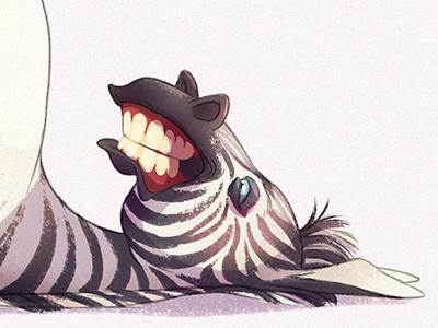 Zebra raster zebra animal character design character