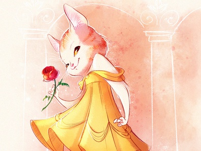 Belle as a cat