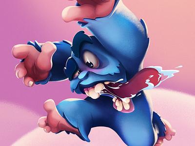 Blue Yeti creature design creature yeti game art characters cartoon raster character design character
