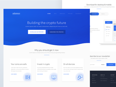 Crypto Landing Page & Wallet UI wallet web app landing page app web ux ui