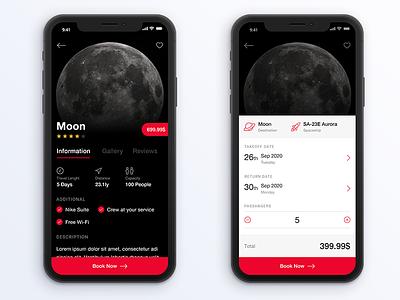 SPACED - Space travel app app travel space ios ux ui spacedchallenge