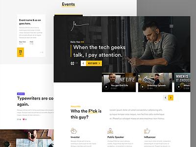 Gary Vee Website Redesign website web vee vaynerchuk ux ui page landing flat design