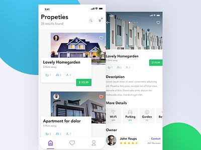 Property App Exploration. experience interface user mobile web x iphone exploration ux ui app property