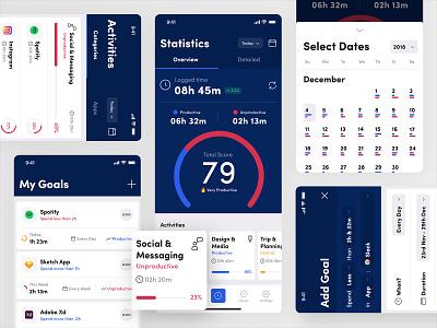 Productivity Tracker App interface iphone ios exploration experience design app ux ui