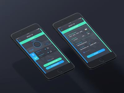 Reset App - Payment Screen darkgrey ui payment app