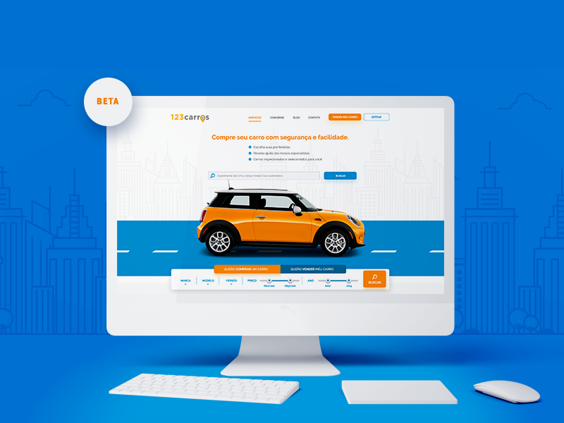 Website 123carros V1 homepage car webdesing cars ui ux