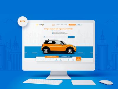 Website 123carros V1 homepage car webdesing cars ui ux